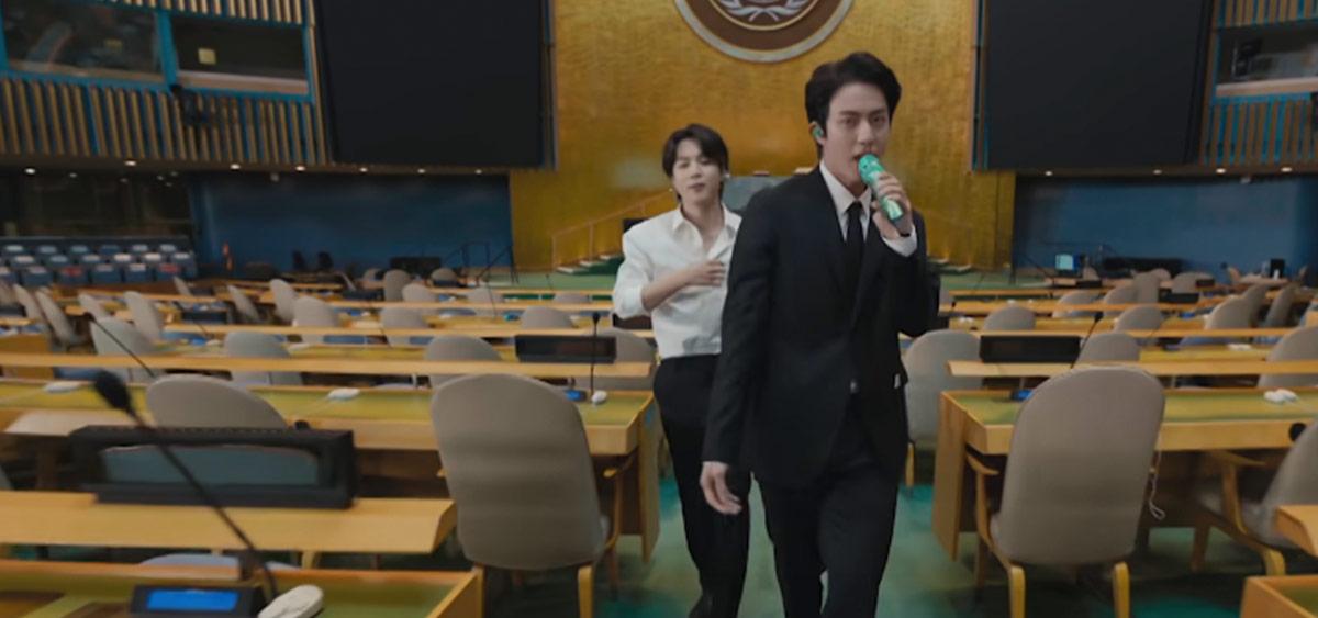 BTS выступили на сессии Генассамблеи ООН