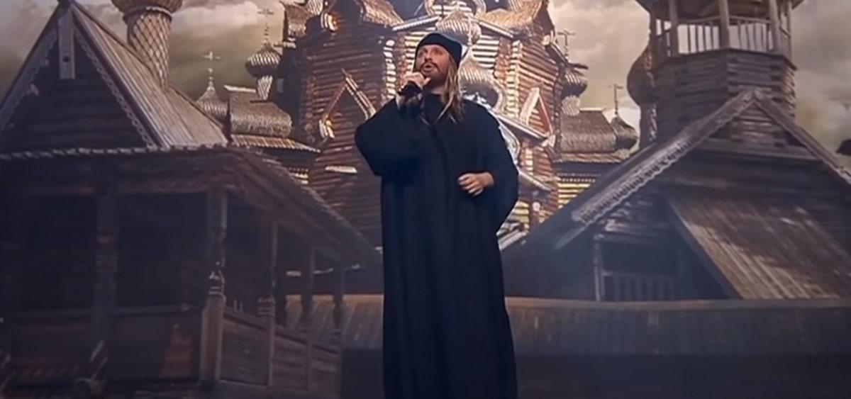 Бородатая Ваенга в образе монаха поразила зрителей и вызвала гнев РПЦ