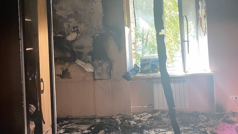 Сгоревшая квартира Славы КПСС