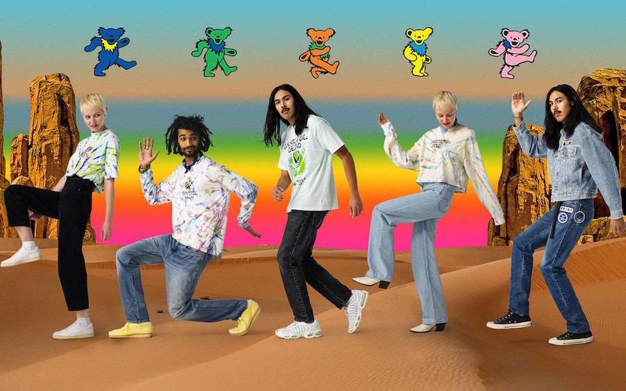 Черепа и розы Grateful Dead оказались на футболках Levi's